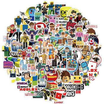 10/30/50/100pcs Cartoon Game Roblox Stickers Diy Graffiti Anime Sticker Kids Toy for Children Laptop Skateboard Phone Motorcycle