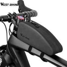 Ouest vélo vélo sac étanche vtt route vélo sacoches avant cadre panier vélo accessoires guidon Triangle vélo sacs