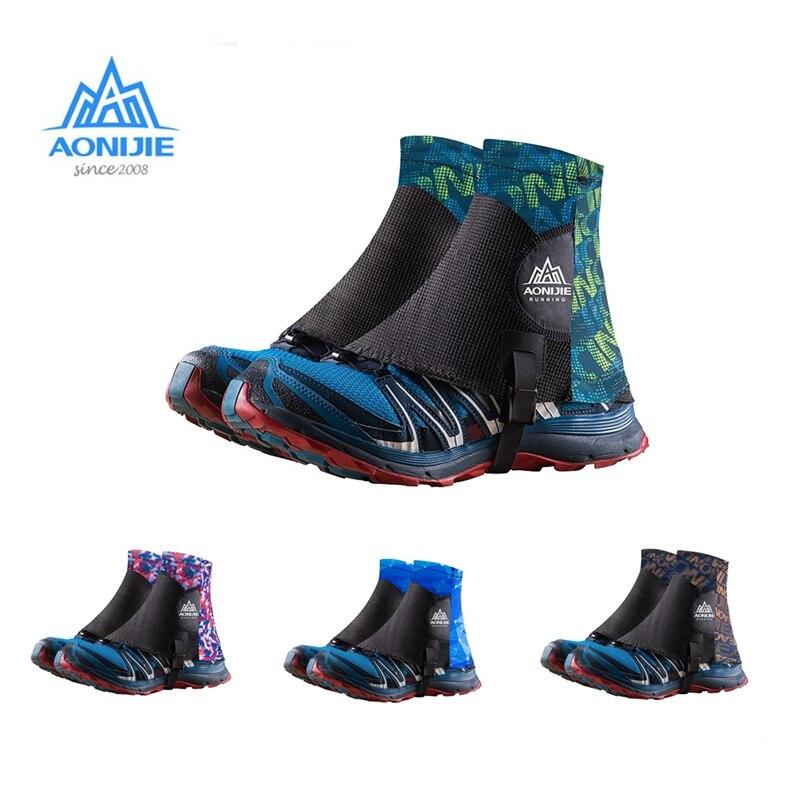 AONIJIE Trail Running polainas altamente protector syproof al aire libre zapato Unisex cubre para el triatlón maratón senderismo reflectante E941