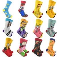 c322 anime fashion men wemen unisex casual non slip breathable comfortable long sock accessory
