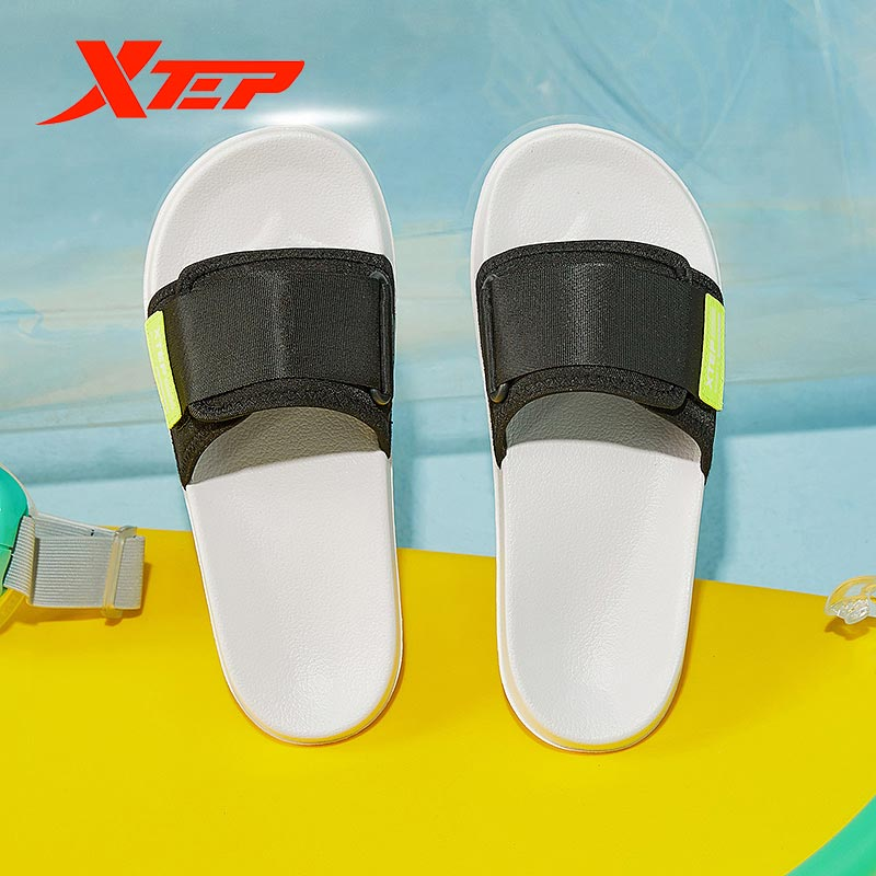 gienig 2018 summer men slippers a simple one with a thick bottomed leisure cool trend student anti skid wear resistant home Xtep Men's Shoes 2020 Summer New Home Non-slip Sandals And Slippers Tide Wear-resistant Thick-soled Slippers 880219355013