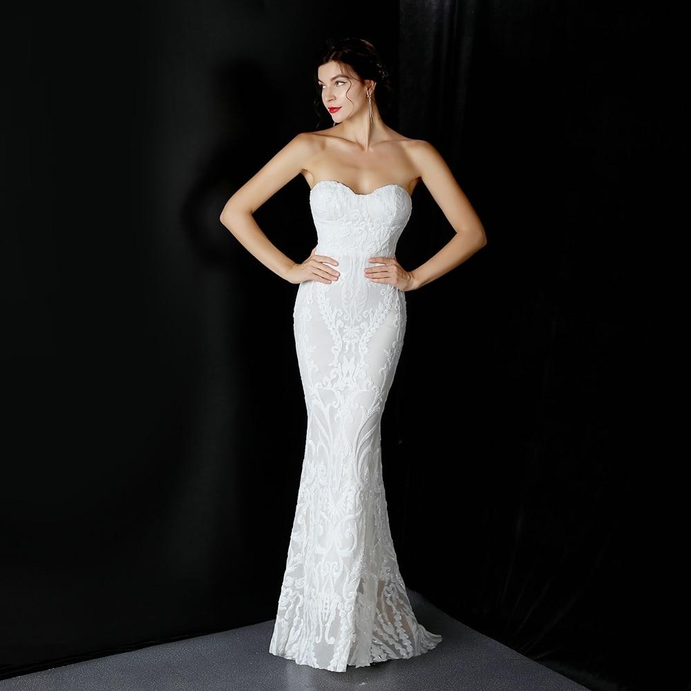 YIDINGZS-فستان سهرة طويل ، حمالة صدر ، أكتاف عارية ، ترتر ، ملابس رسمية