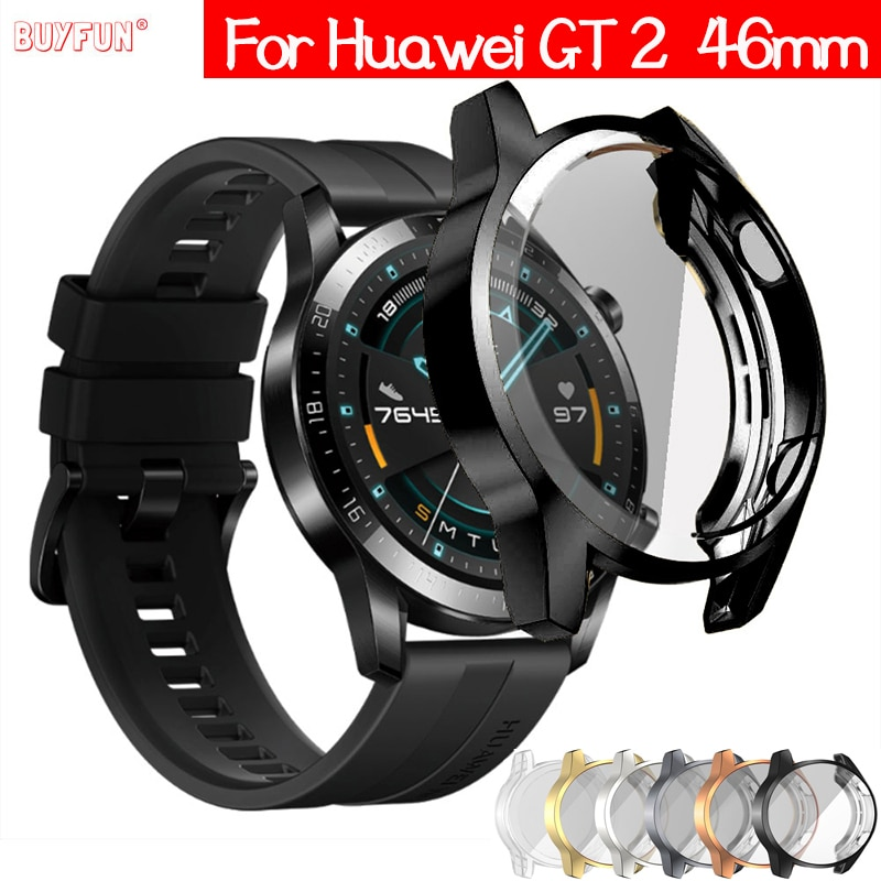 TPU Case for Huawei watch GT 2 46mm strap band Watch GT / GT2 46 mm soft Plated All-Around Screen Pr