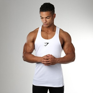 Summer new men's fitness vest bodybuilding men's sports vest men's running sports training clothes breathable wicking quick-dryi