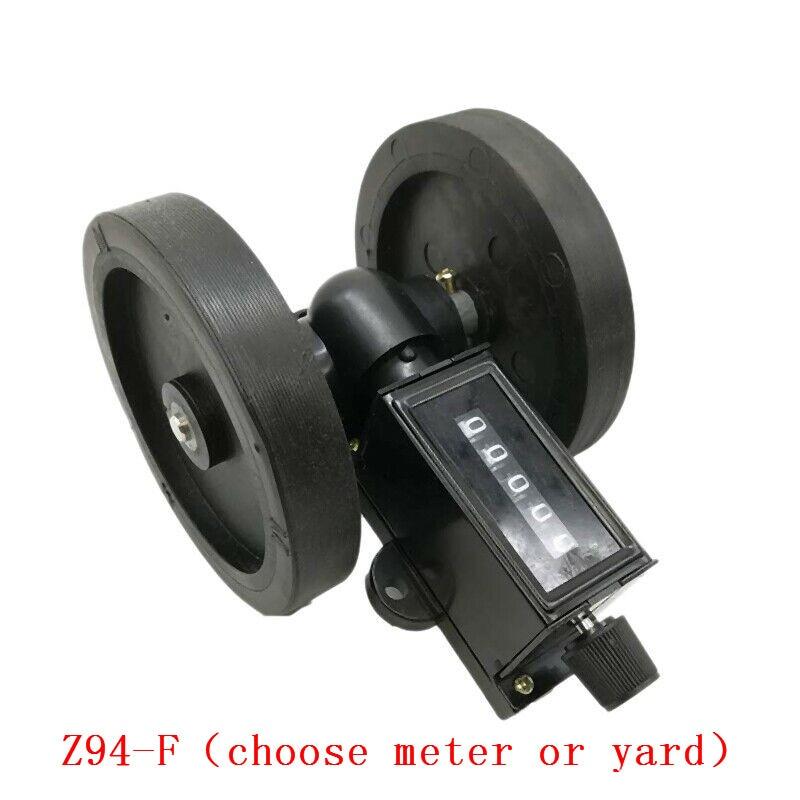 Механическое колесо счетчик 5 цифр спиннинг кабель пластиковая пленка кожа длина измерительный счетчик (выберите метр или ярд)