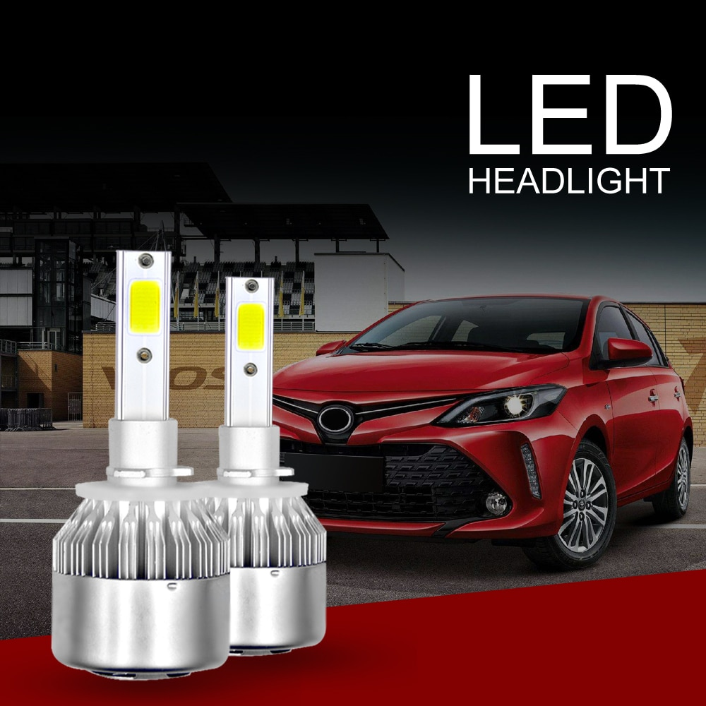 Universal C6 Car Headlight H4 H7 LED H1 H3 Headlamp Light H8/H11 HB3/9005 HB4/9006 9012 9007 H13 6000K 72W 8000LM All In One Car