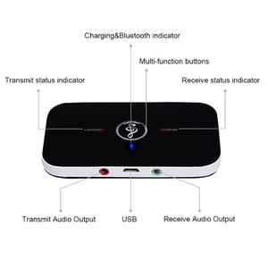 Image 4 - Bluetooth 5,0 передатчик и приемник 2 в 1 RCA 3,5 мм 3,5 Aux разъем стерео музыка аудио беспроводной адаптер для автомобиля ТВ ПК наушников