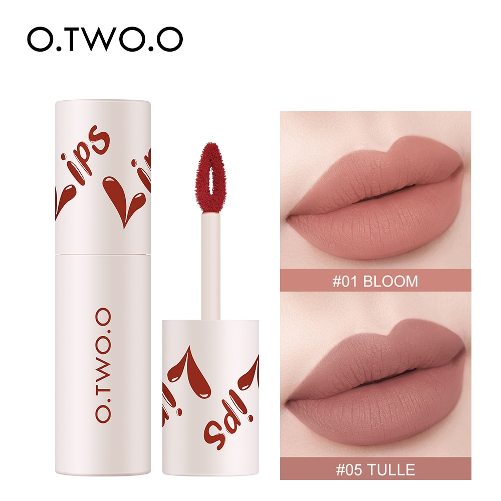 Velvety Lipstick Matte Lip Gloss 18 Color Waterproof Long-lasting Sexy Red Lips Tint Dual-use Lip an