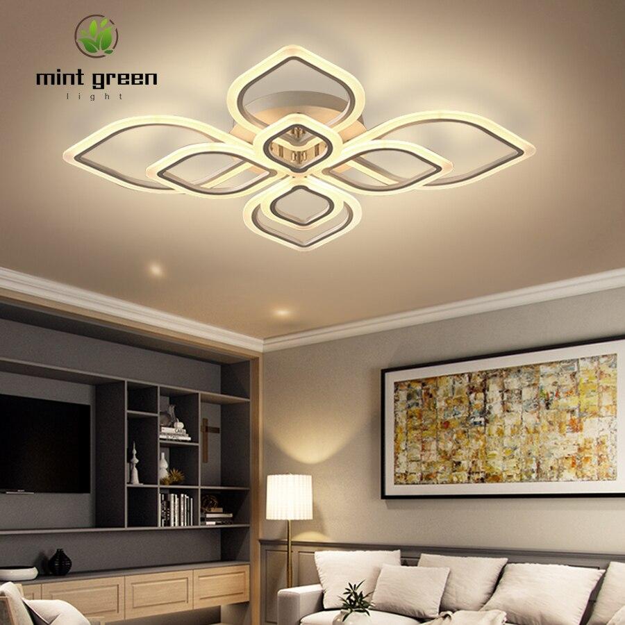 lustre moderno de teto luminaria led para decoracao sala de estar sala de jantar