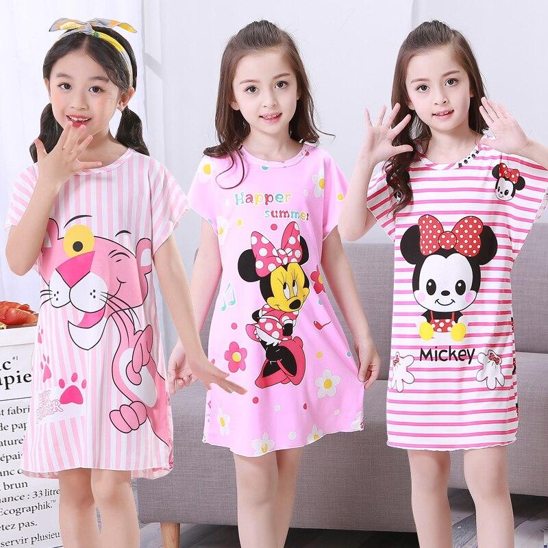 Summer childen Nightdress Nighty For Girls Fashion Nightwear Nightshirt Kids Nightgowns Children's Pajamas Dress