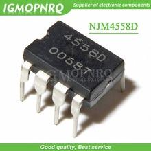 20 pièces JRC4558D NJM4558D 4558D 4558 DIP8 amplificateur nouveau original