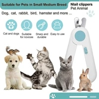 led light pet nail clippers pet nail trimmer nail cutters animal grooming tool with nail file grinder for cat dog