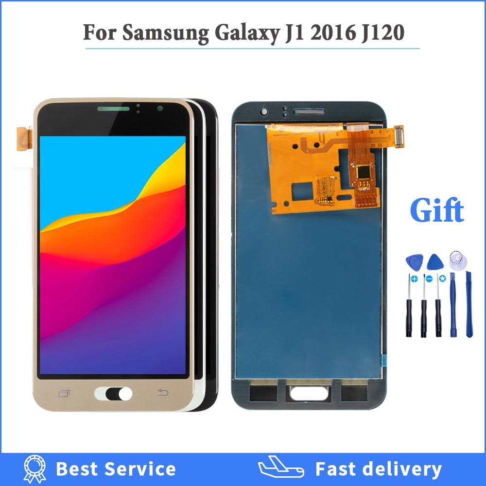 tested For Samsung Galaxy J1 2016 LCD J120 LCD Touch Digitizer Assembly J120F Display J120H LCD J120H Screen adjust brightness