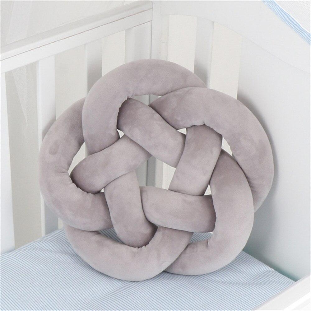 Nudo de peluche pelota sofá Patio cojín hecho a mano habitación decoración Coche Oficina asiento trasero almohada niños juguetes de bebé rellenos almohadas