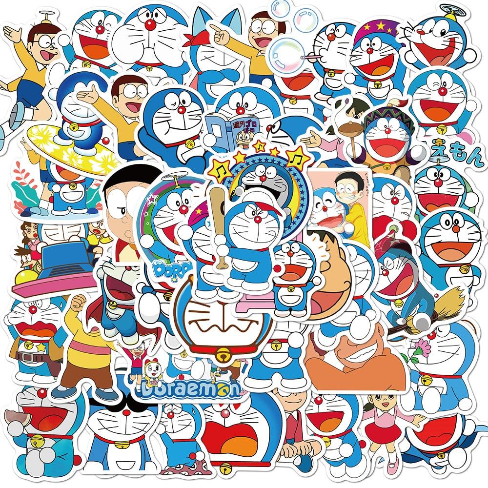 50 шт./упак. для костюмированной вечеринки по японскому аниме «Дораэмон»; Наклейки для автомобилей мотоциклы воды чашки Детские игрушки чемо...