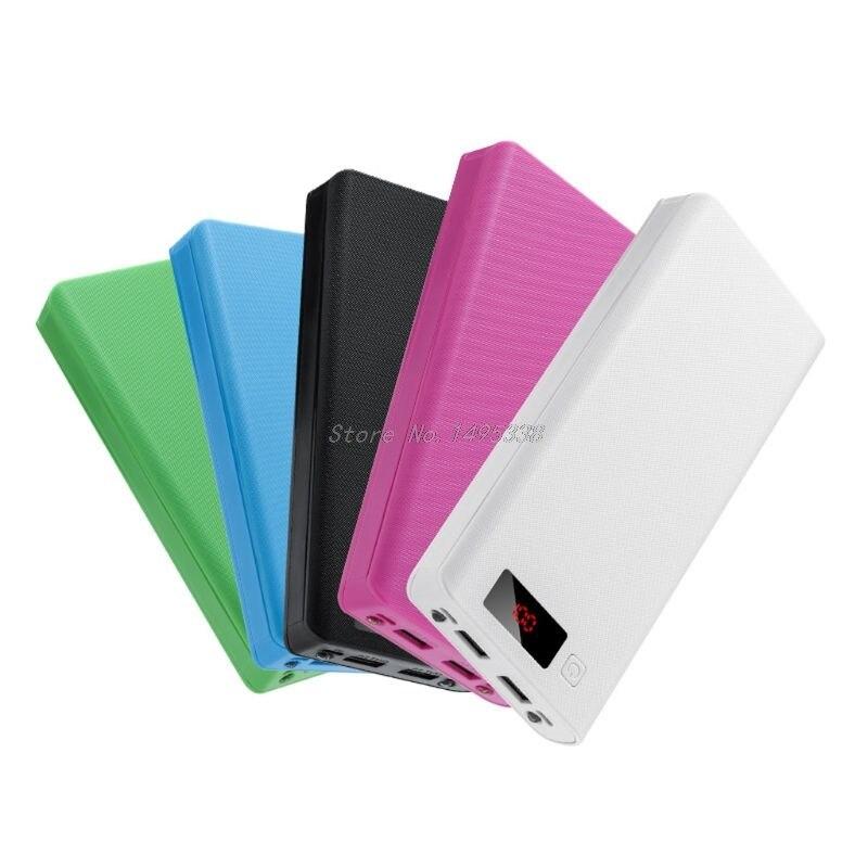 (Sin batería) Dual USB 8x18650 baterías de bricolaje de energía Banco Caja de funda, soporte cargador de la energía de luz LED adaptador para la tableta del teléfono móvil