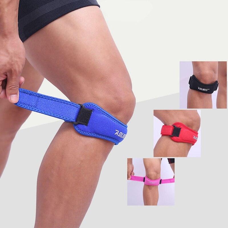 ¡Nuevo! AOLIKES rodillera, 1 Uds., para correr, voleibol, deportes, rodillera ajustable, rodillera, soporte de tendones, correa, rodillera