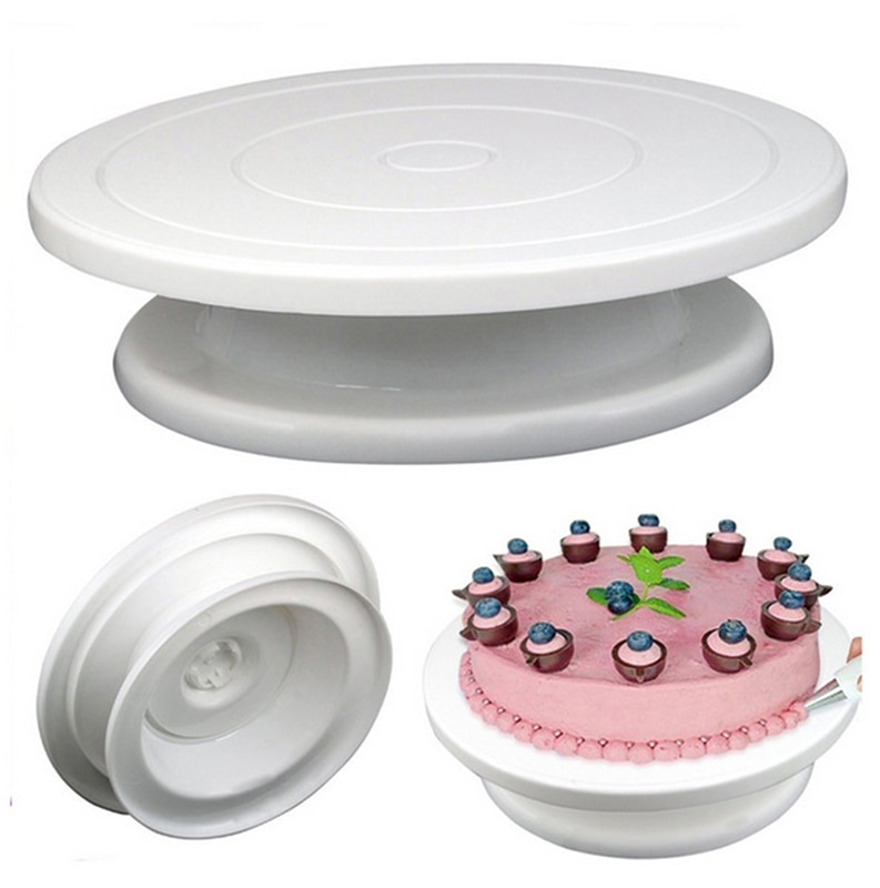 DIY pastel tocadiscos molde de hornear de silicona plato giratorio de pastel redondo torta decoración herramientas mesa giratoria pastelería puesto de suministros de torta