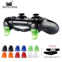 Джойстик DATA FROG, 1 пара, кнопки L2 R2, триггерный удлинитель, геймпад для playstation 4 PS4/PS4 Slim/Pro, аксессуары для игрового контроллера