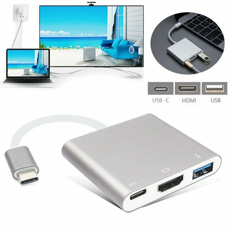USBC 3.1 Hub Converter Adapter USB C Type To USB 3.0 HDMI TypeC Female Charger AV Adapter For Apple Macbook Dell Laptops