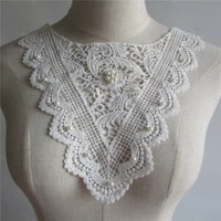 fashion all match pearl decoration collar lace fabric fabric diy sewing embroidery collar