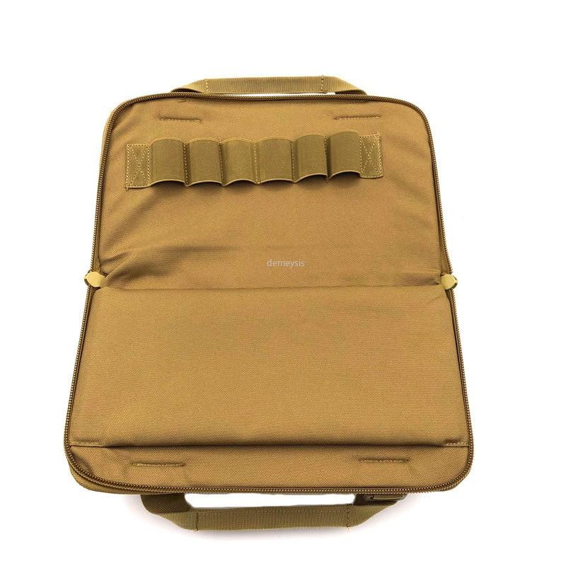"Tático pistola carry bag 12 ""náilon acolchoado pistola de pistola carry saco caso bolsa ao ar livre caça tiro arma transportar saco bolsa"
