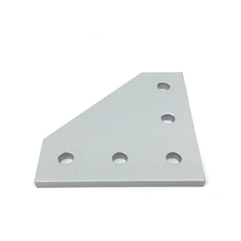 طابعة ثلاثية الأبعاد مؤكسدة ، لوحة ربط 90 درجة ، مع 5 ثقوب لـ openconstruction CNC ، V-Slot 2020 ، الألومنيوم ، 10 قطعة