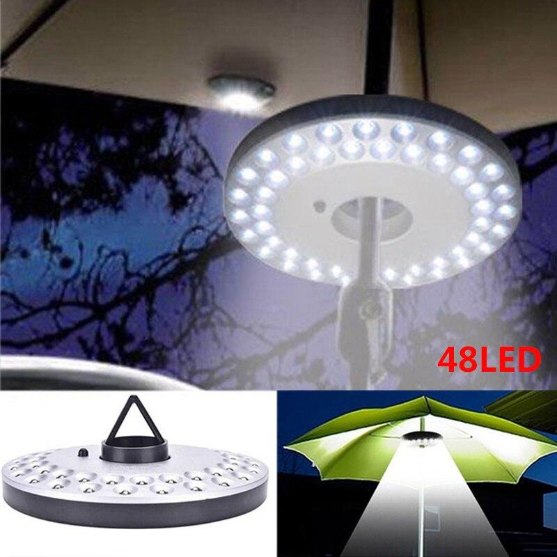 48 зонтик со светодиодом свет фонарь наружного освещения для кемпинга световые полюса палатка свет с вешалкой-крючком для сада патио пляж Рыбалка Пешие прогулки