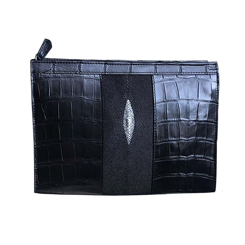 ousidun crocodile  handbags  Men's bags  large capacity  business  leisure bag  male  clutch bag crocodile bag 26cmx20cmx6cm