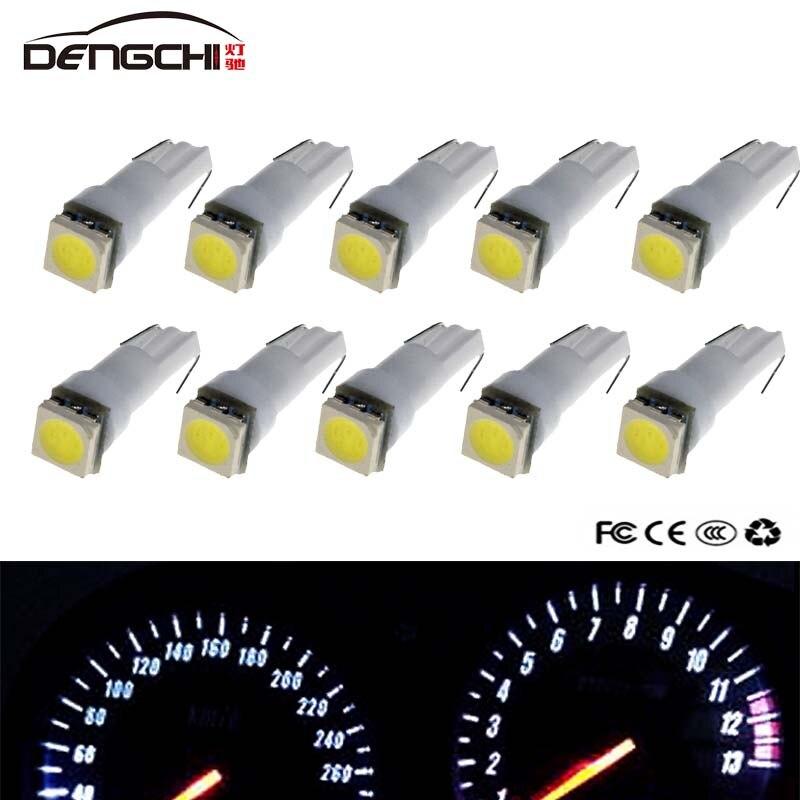 10 pièces T5 LED 17 37 73 74 SMD 5050 Auto lampe à LED voiture tableau de bord instrumento ampolla blanc bleu rouge jaune vert