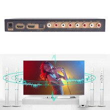4K Digitale Analoge 7.1Ch Hdmi Audio Extractor Optische Multi-Kanaals Spdif Rca Output Naar Hdmi 7.1 Audio Converter 192Khz Dac Lpcm