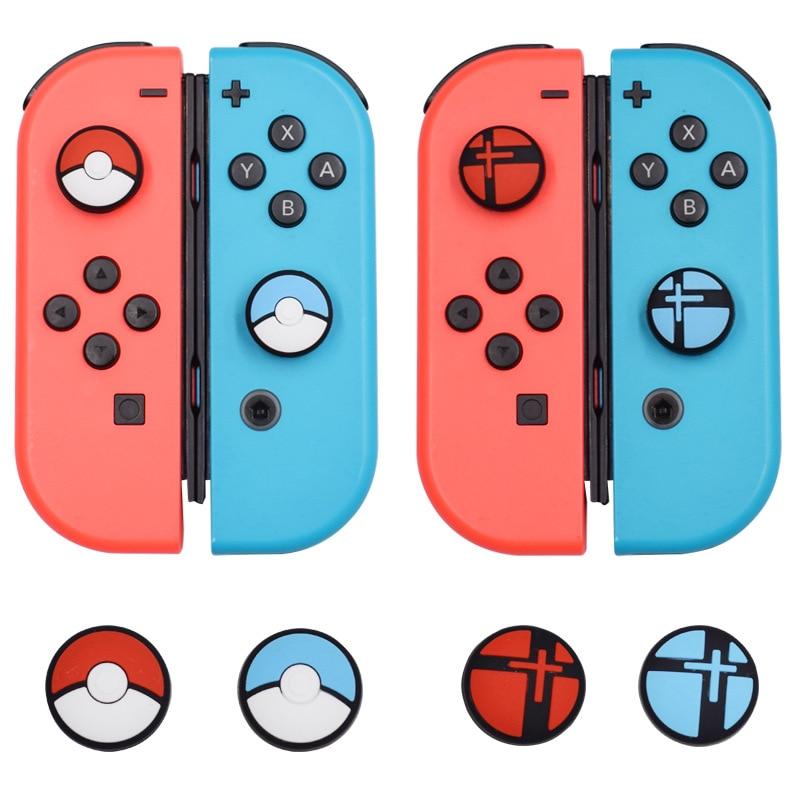 2 uds./4 Uds. Pokemon de silicona, botón de agarre de pulgar, tapas de Joystick para Nintendo Switch NS, controlador, tapa, tapas, accesorios de juego