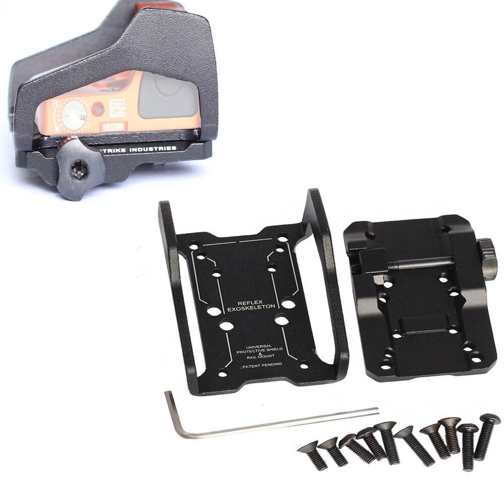 Magorui multifunción Universal de la vista de montaje RMR Base de montaje de reflejos de visión exoesqueleto en carril Picatinny