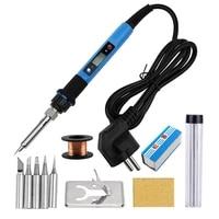80w lcd digital display electric soldering iron adjustable temperature solder rework welding desoldering repair tools
