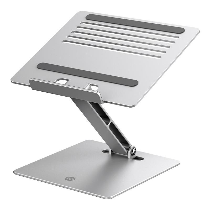 Soporte de elevación de aluminio ajustable para ordenador portátil, accesorio plegable para tableta, escritorio, Notebook