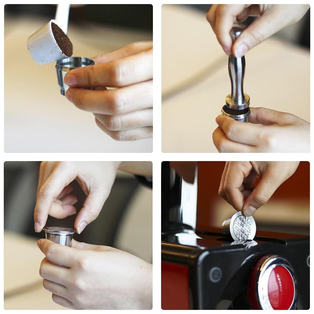 Para Nespresso U Power Tamper + Set de reciclaje de cápsulas de filtro de acero inoxidable para Maestria Lattissima Inissia