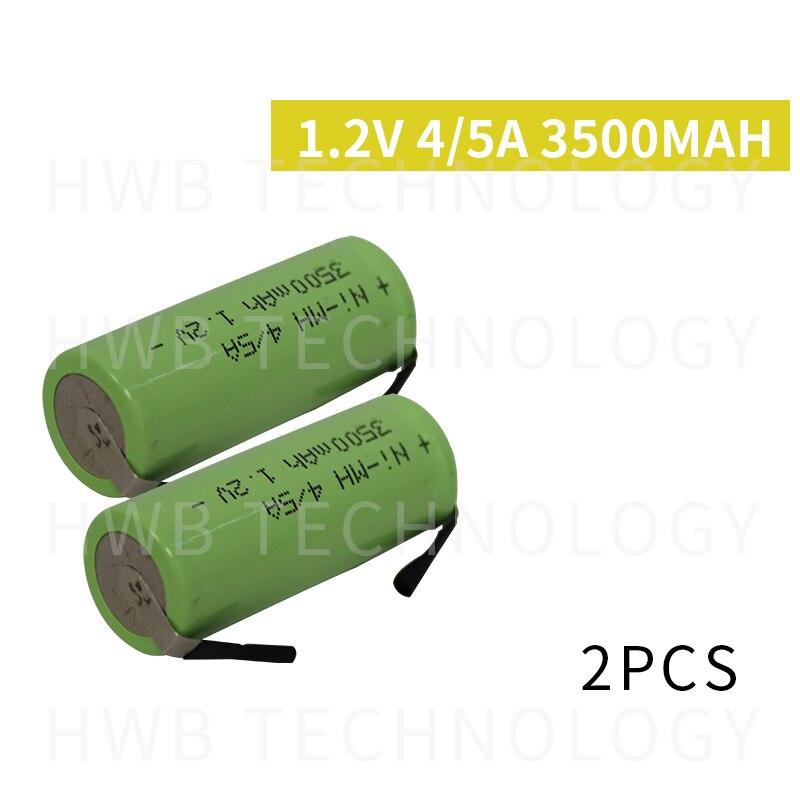 Bateria recarregável ni-mh 2 peças/lote kx, bateria recarregável ni-mh 1.2 a ni mh 2 3500 v 4/5a 4/5 mah pinos frete grátis,