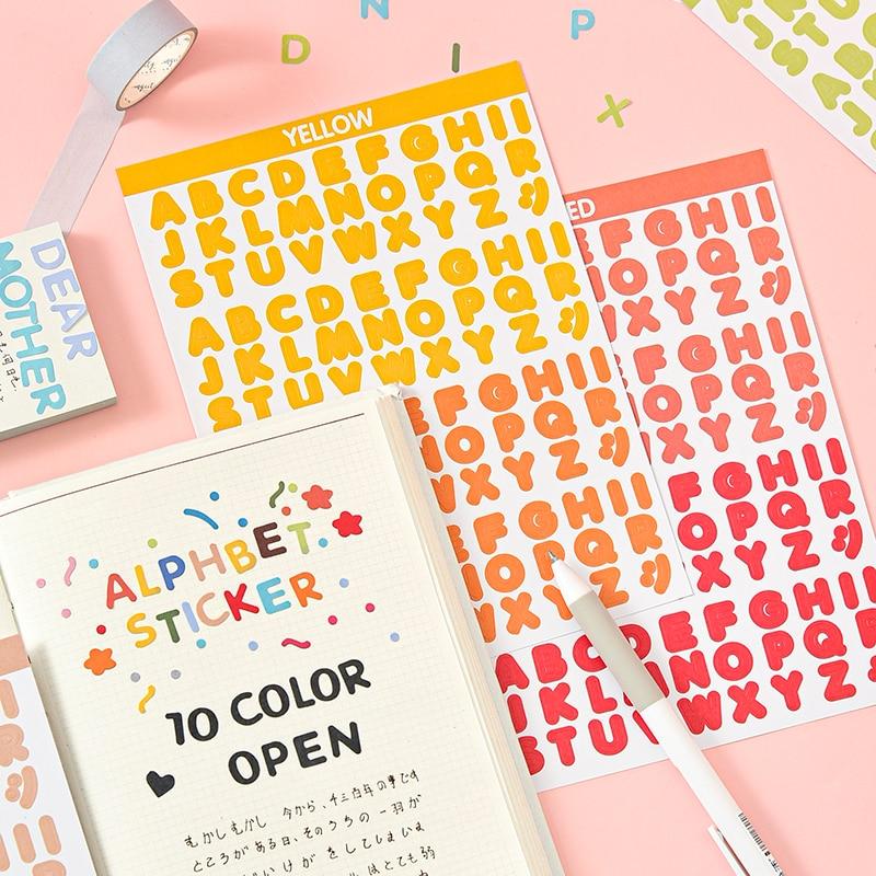 2-fogli-arcobaleno-inglese-lettera-carta-scrapbooking-adesivi-fai-da-te-150-200mm