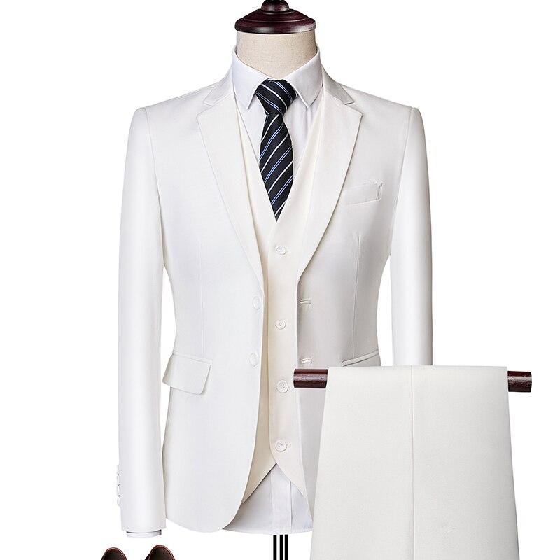 Костюм мужской, весна-осень 2021, эксклюзивные деловые блейзеры на заказ, из трех частей/тонкие, большого размера, разноцветные бриджи