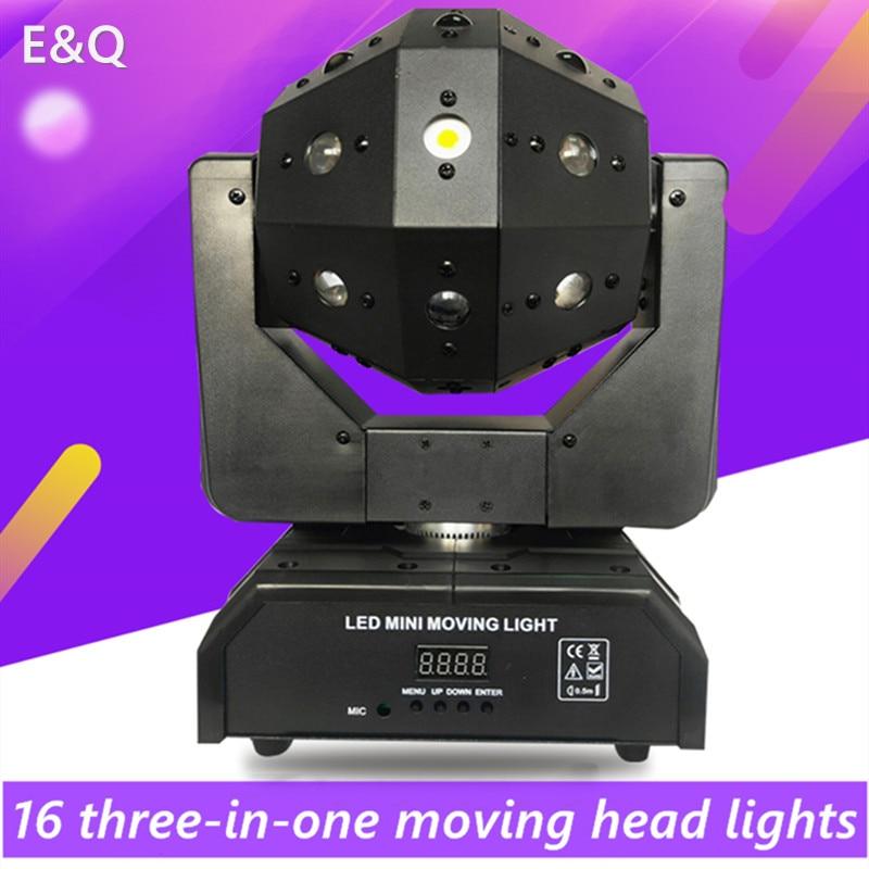 عالية الجودة 24 قطعة 3 في 1 لكرة القدم ضوء LED المرحلة الإضاءة 16 قطعة 3 في 1 نقل رئيس شعاع ضوء DJ ديسكو حزب الموسيقى