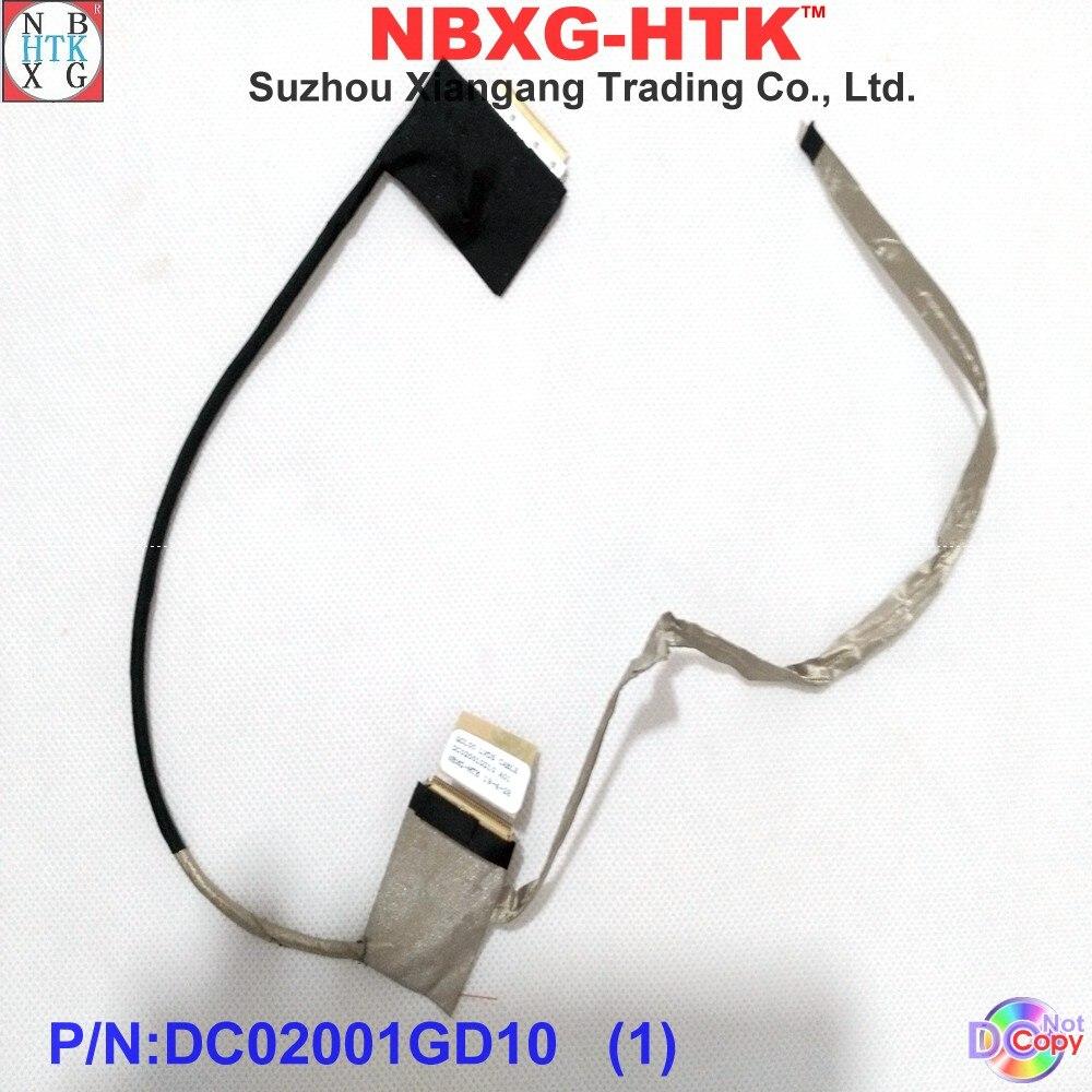 Marca nueva original cable para pantalla de ordenador portátil para Dell Inspiron 15R 5520 5525 portátil de 7520 LCD LED LVDS cable DC02001GD10