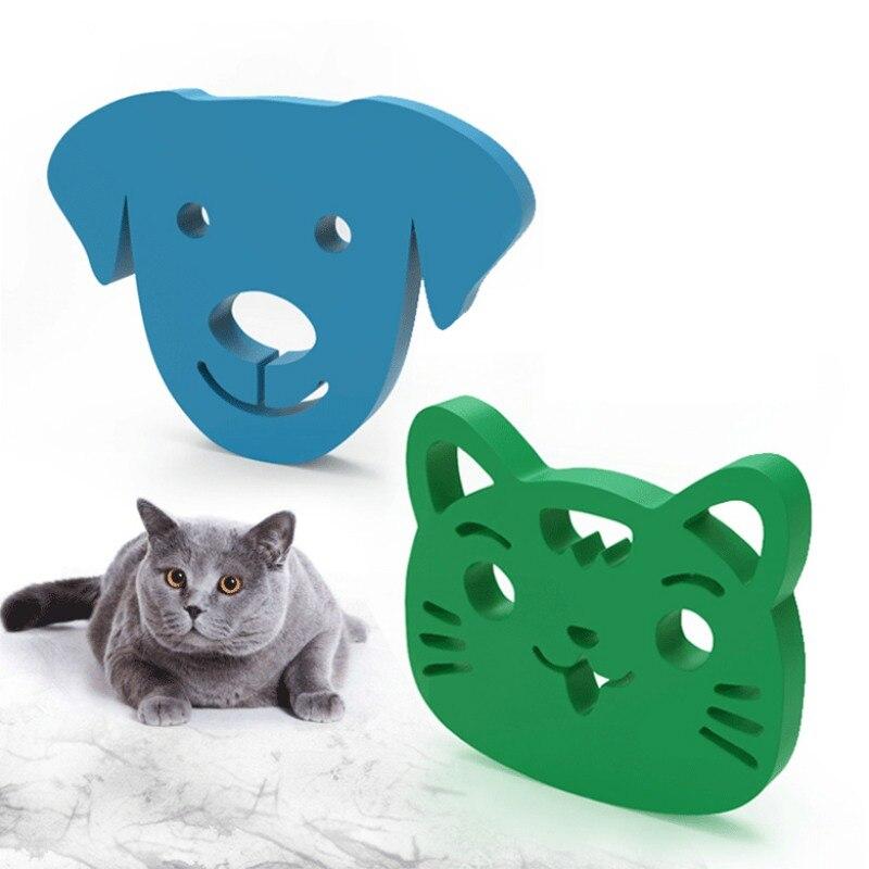 Mini pet removedor de cabelo escova pegajosa lavável dos desenhos animados escova pegajosa resuable gato cão removedor de cabelo ferramenta para roupas sofá
