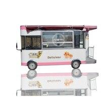 Elektryczne 3.5M długość komórkowy street food track przekąski żywności przyczepa koszyk do samochodów dostawczych