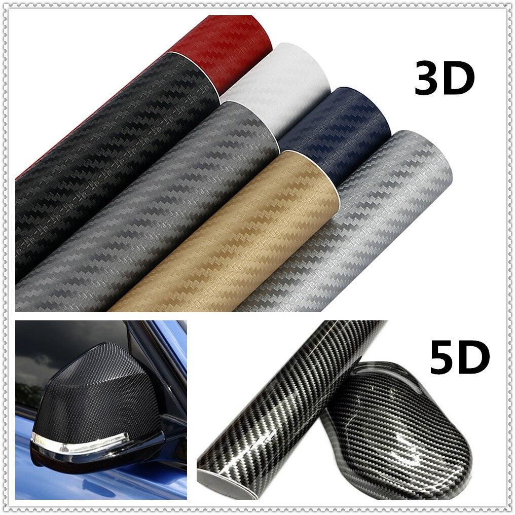 Pegatinas de vinilo de fibra de carbono para coches 3D 5D de 30x127cm, pegatinas para Kia Sportage Sorento Sedona, Optima K900 Soul Forte5