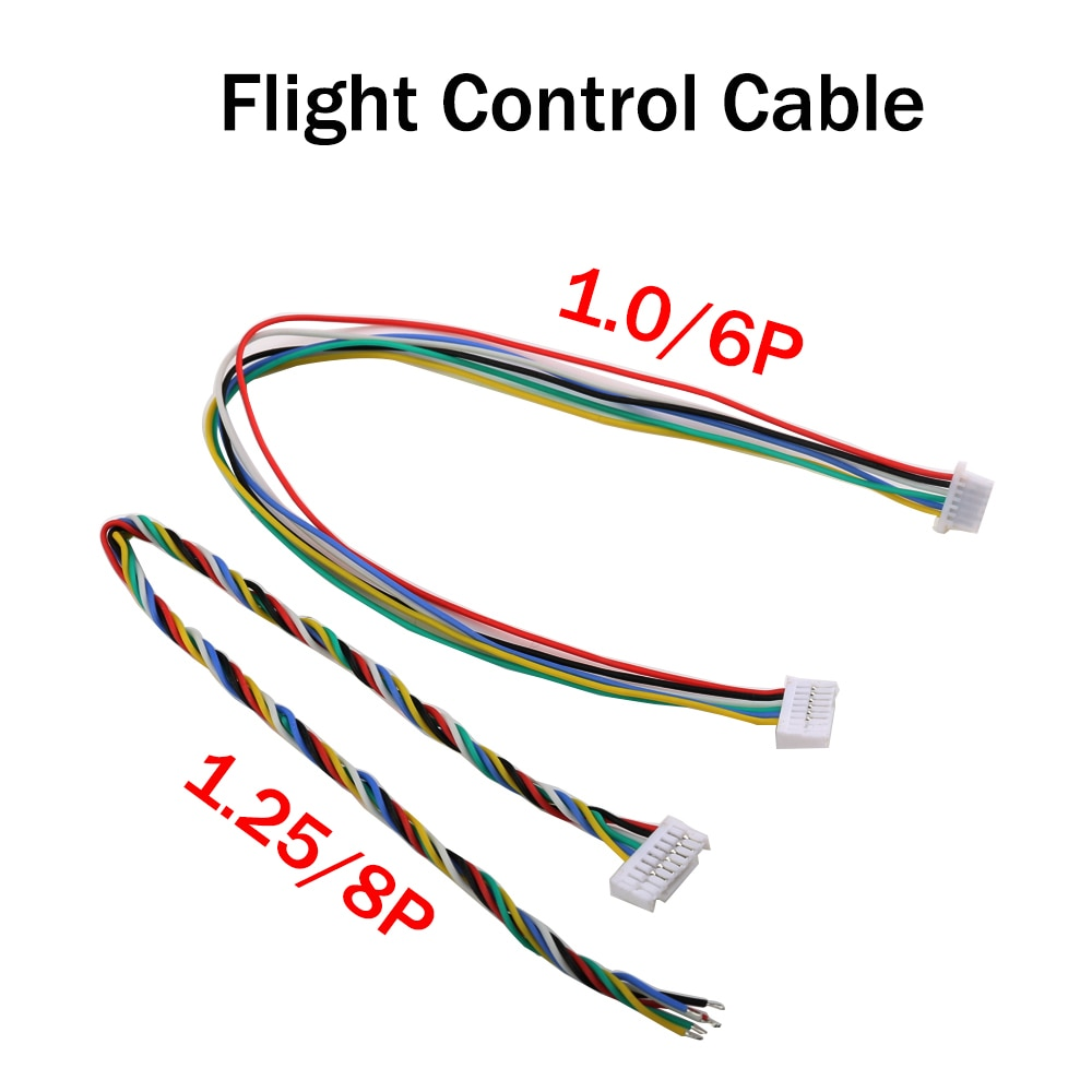5PCS DJI Image Transmission Sky end Cable Silicone Wire Welding Straight Plug Flight Control Cable 1.25 8p/1.0 6p