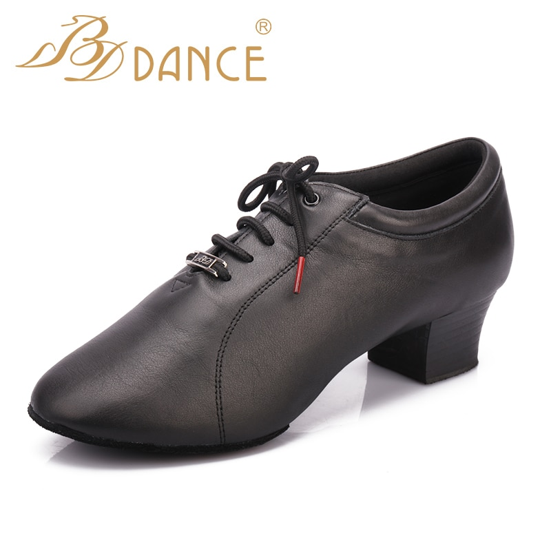BD Dance shoes men's latin dance shoes soft sole two point sole indoor ballroom dance shoes 419
