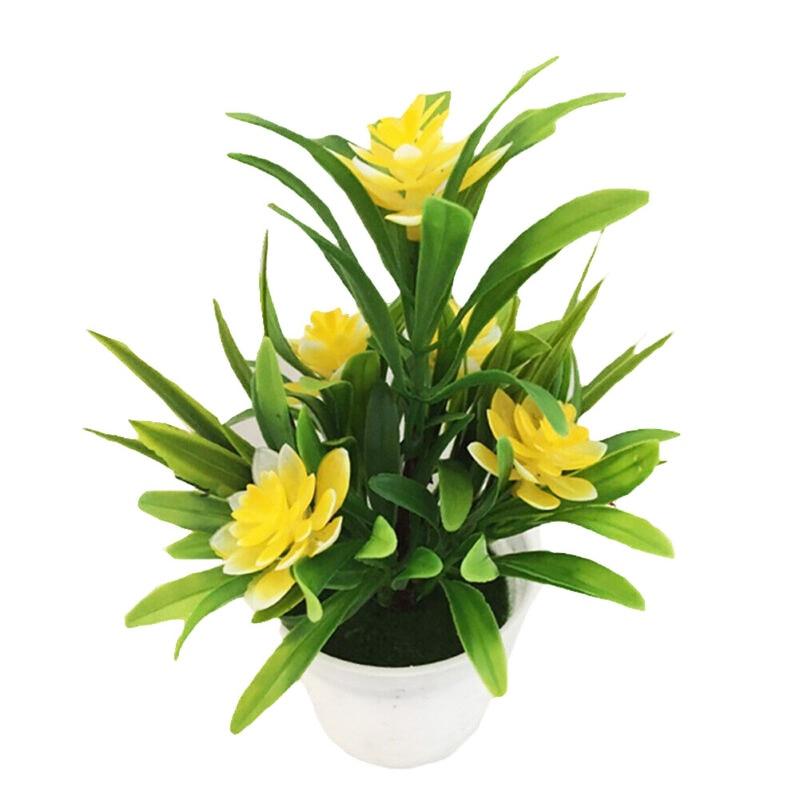 Maceta realista de Planta artificial con flores, decoración para el hogar y la Oficina, regalo, Color brillante hermoso y animado
