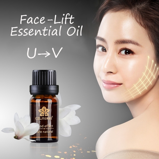 10ml Face Massage Oil Firming Skin Burning Fat Lifting Face Shaping v-Face Facial Beauty Oil