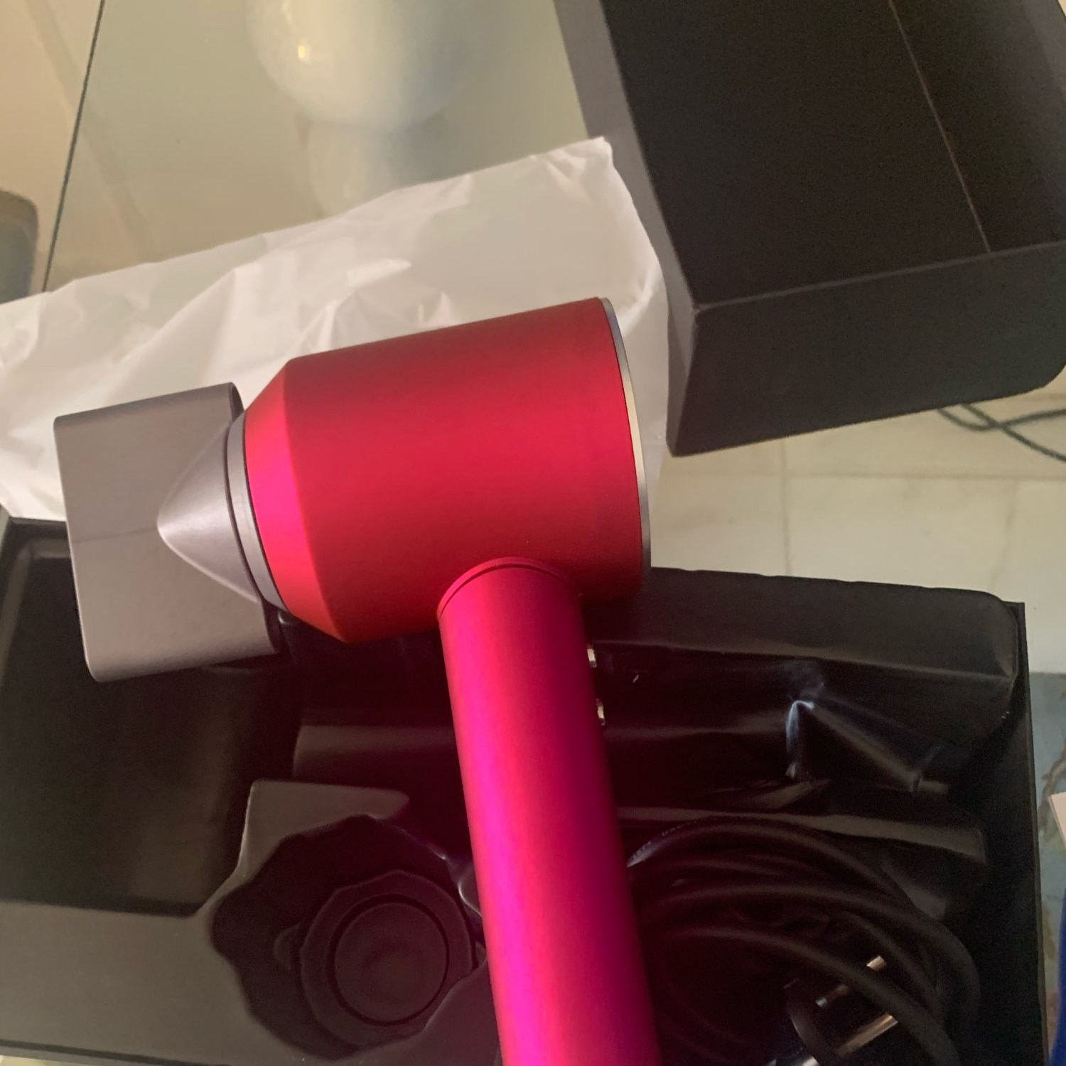 leafless blow hair dryer Anion strong wind smooth fast drying salon portable household no leaf barber hairdryer travel case enlarge