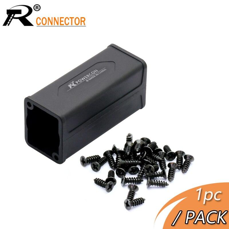 1pc caso de saída de plástico para led powercon ac acoplador adaptador extensor conector speakon montagem em painel adaptador reto alta qualidade